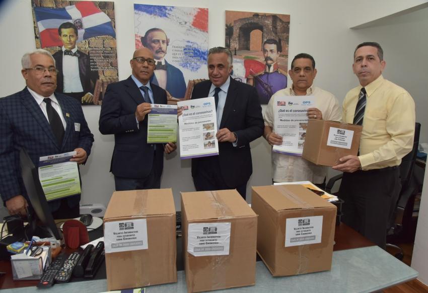 MINERD entrega al COD material de orientación sobre el Coronavirus para distribuirlo en las federaciones deportivas