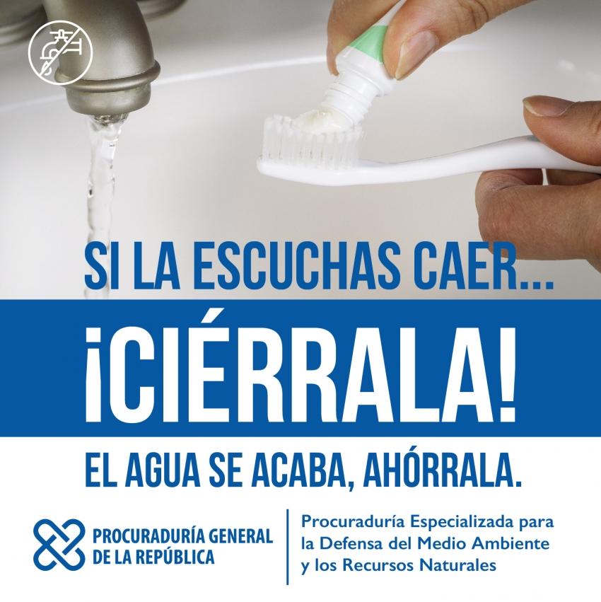 Procurador anuncia campaña contra el desperdicio del agua a través de redes sociales de la Procuraduría