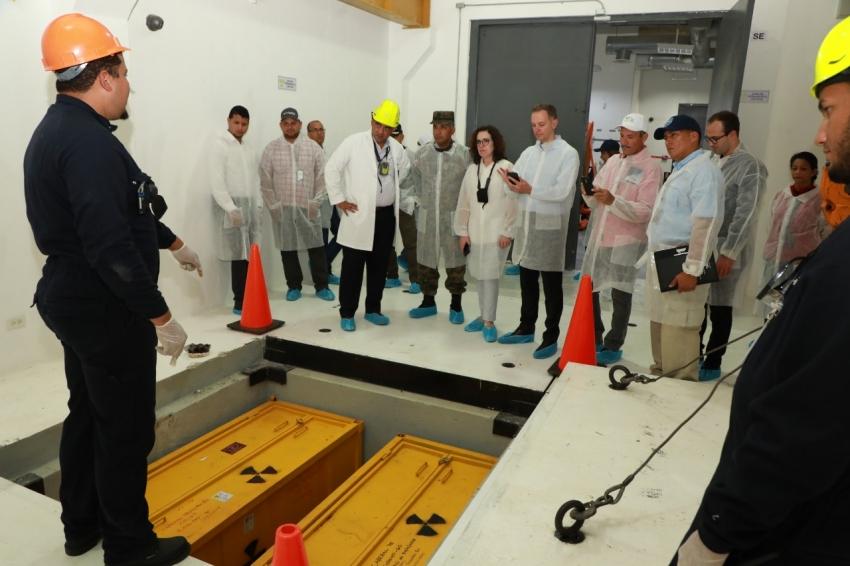 Expertos del CICTE realizan visita técnica Centro de Gestión de Materiales Radiactivos